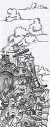 Howl's Moving Castle by Alexlemenestrel