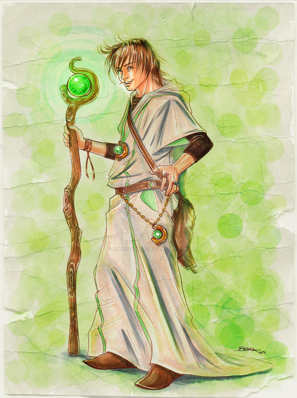 Random Mage Copic CharaDesign by AmanoHikari