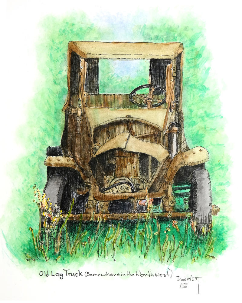 Old Log Truck, (Somewhere in the Northwest) by CapscesDigitalInk