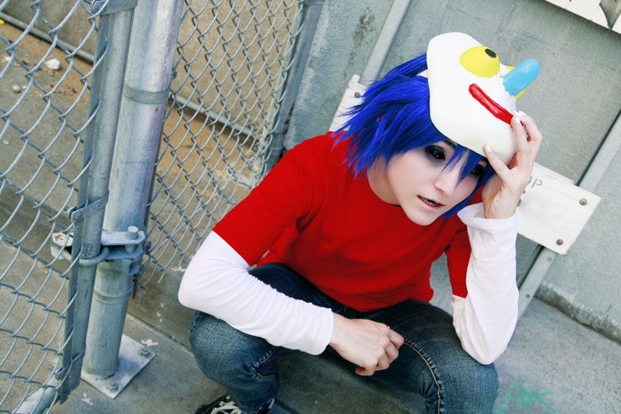 kinda creepy 2d cosplay gorillaz
