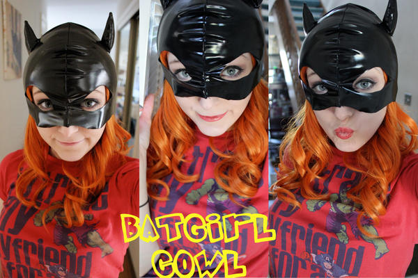 WIP Batgirl cowl and Makeup by SugarBunnyCosplay