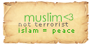 muslim not terrorist by HAROOOD