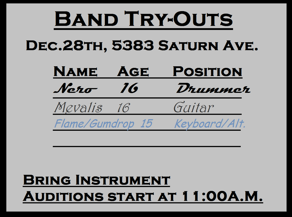 Band Try-Outs by Qulli2