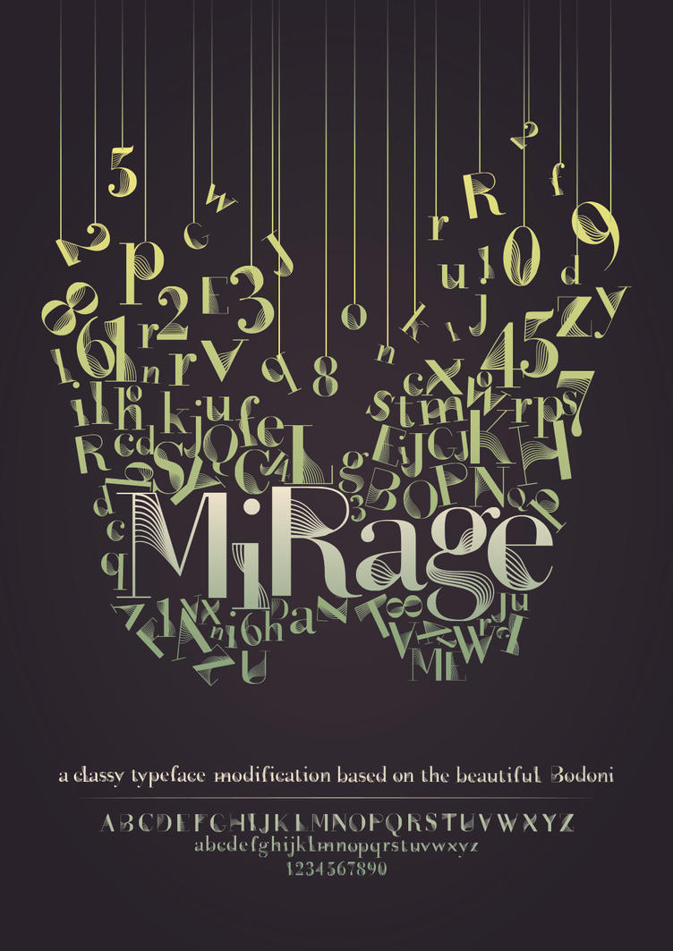 Mirage - Type Poster by hyoori