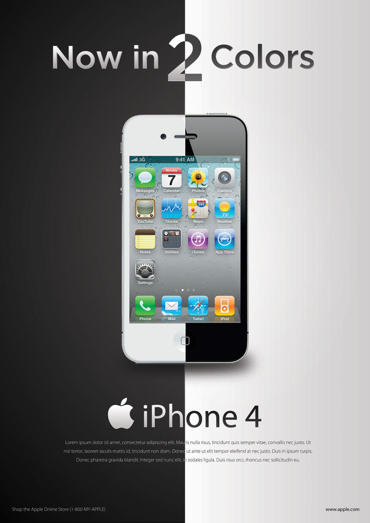 iPhone Ads (Assignment) by hyoori on DeviantArt