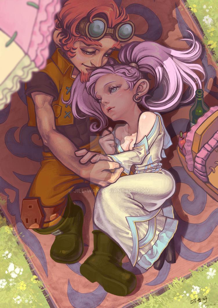 The lovers by Jill-Wan