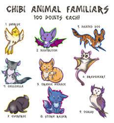 Chibi Familiars (Open! 7/9) OTA by ThePaintedDogg