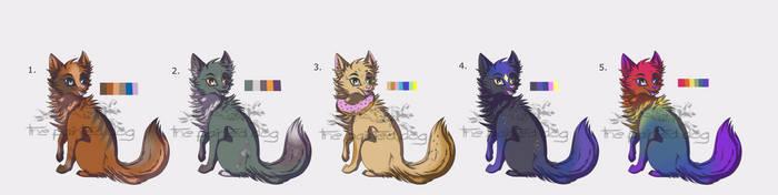 Wolf Pup Adopts (Open! 4/5) OTA by ThePaintedDogg