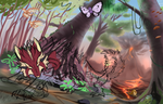 Escape from Viridian Forest! (WIP) by ThePaintedDog