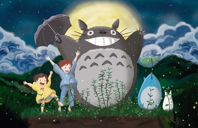 My neighbor Totoro by Tereas