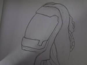 quarian head sketch