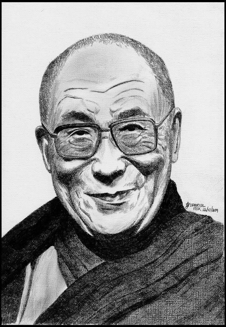 Dalai Lama by foxartsbrazil