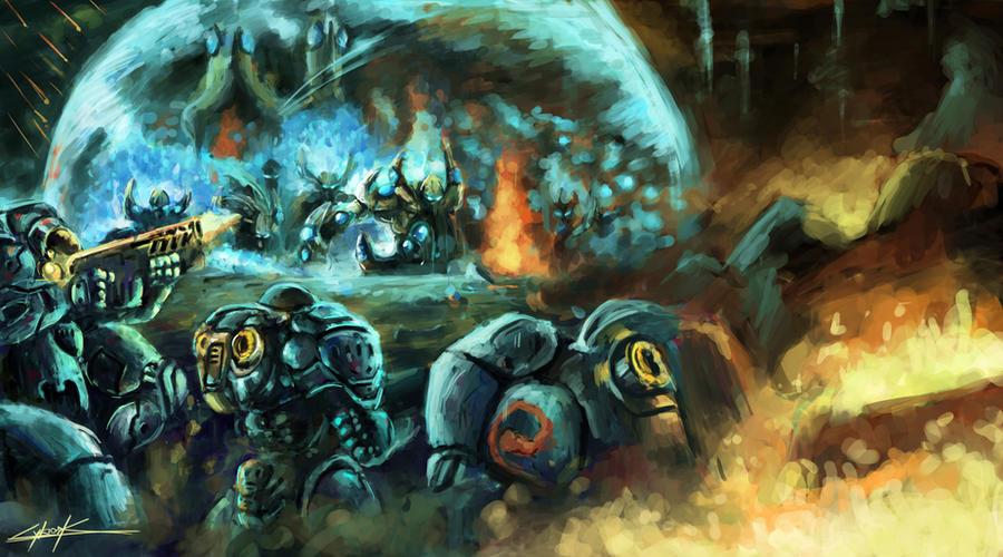 starcraft 2 terran vs protoss by VitoSs