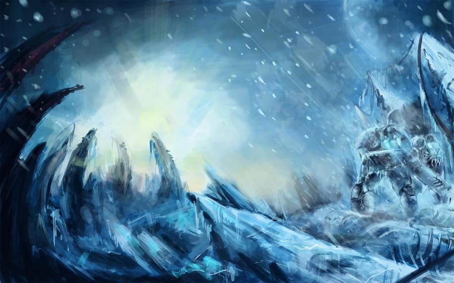 starcraft marines on ice by VitoSs