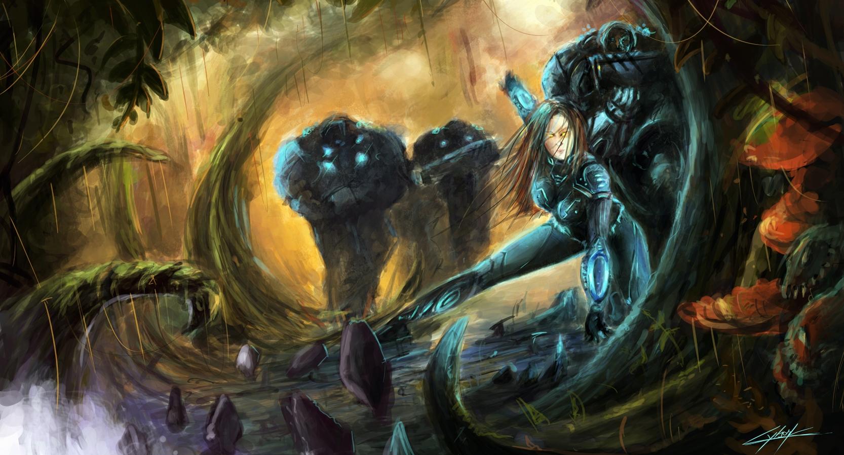 Starcraft 2 Heart of the Swarm jungle by VitoSs
