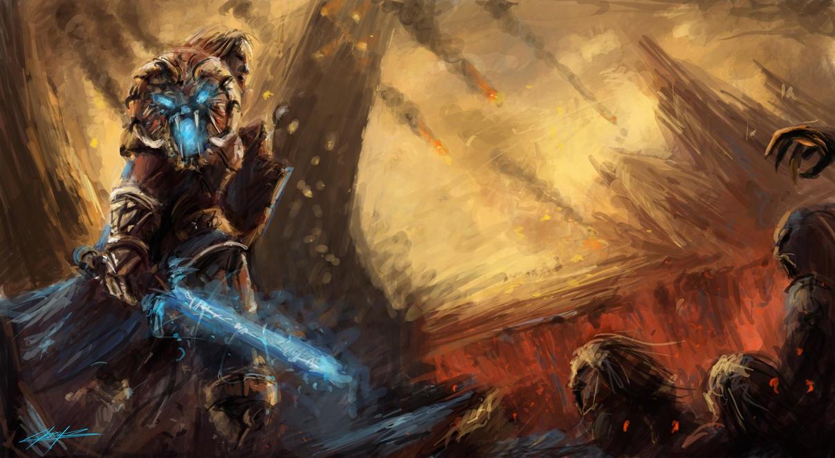 warcraft fight by VitoSs