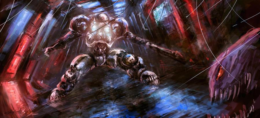 starcraft 2 battle by VitoSs