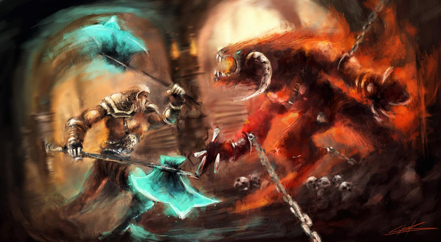 Diablo III fight by VitoSs