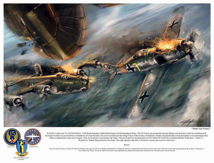 World War 2: B24 Little Lulu 'Thad's Last Victory'