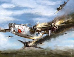 world war 2: B-24 Flak shak by VitoSs