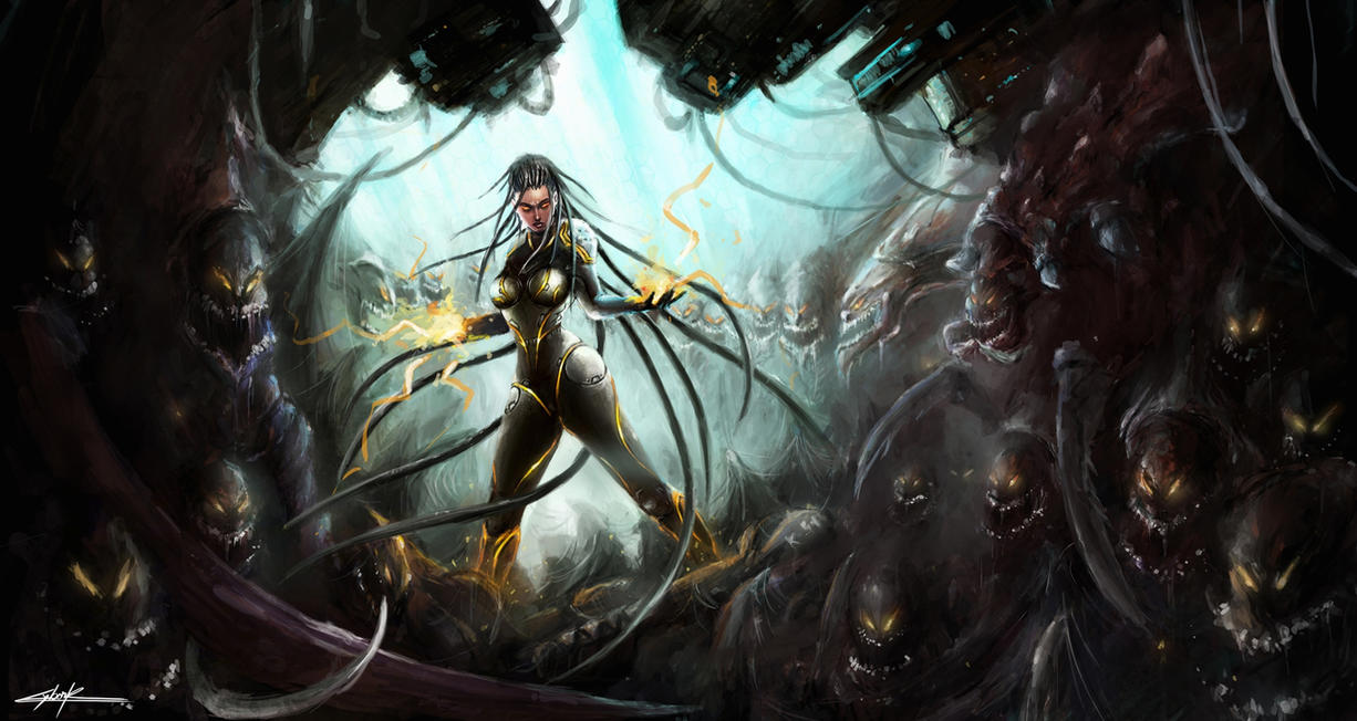 starcraft 2: heart of the swarm sarah kerrigan by VitoSs