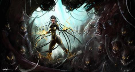 starcraft 2: heart of the swarm sarah kerrigan by VitoSs