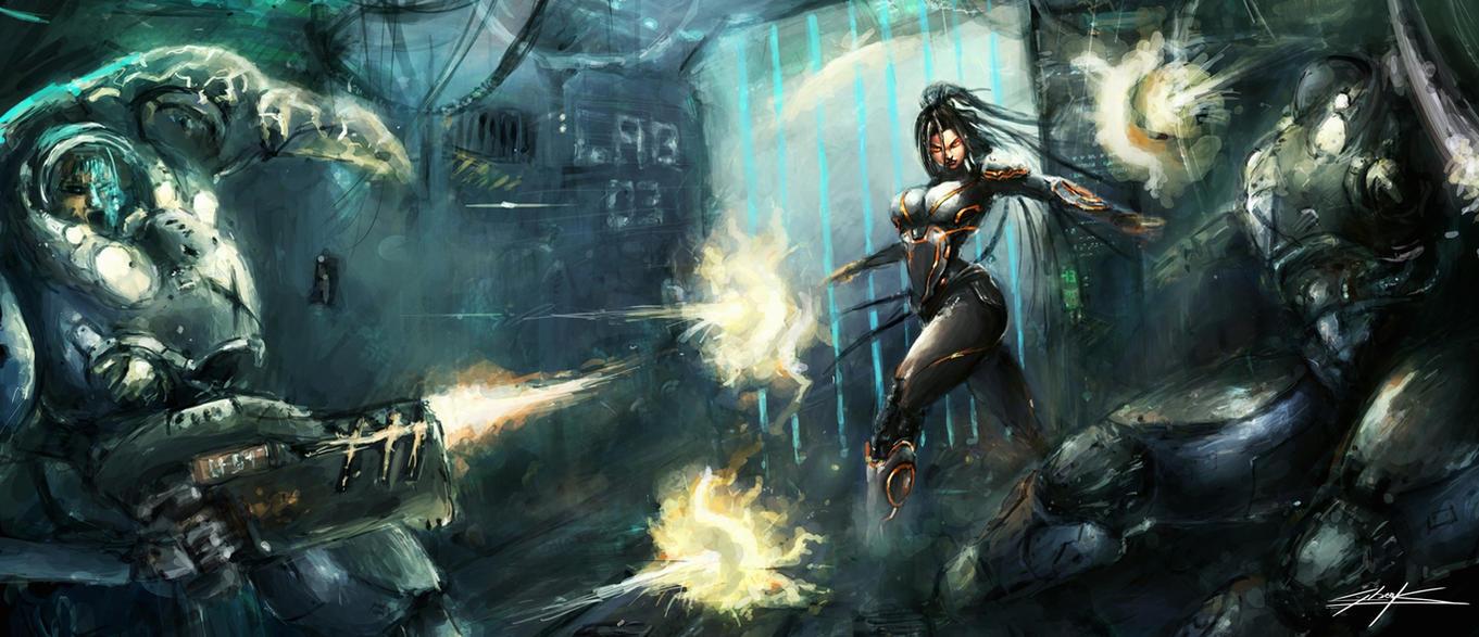 starcraft 2: heart of the swarm sarah revange by VitoSs