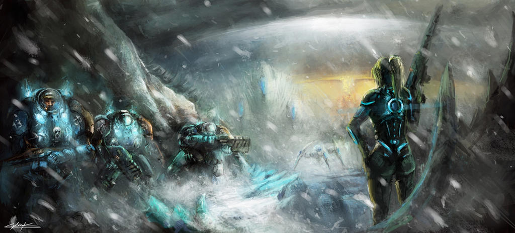 starcraft 2: heart of the swarm fight on Kaldir by VitoSs