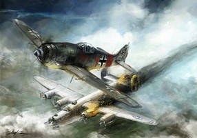 world war 2: FW-190 Rauhbautz VII by VitoSs