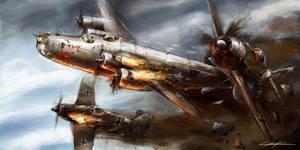 world war 2: B-24 Flak shak detail
