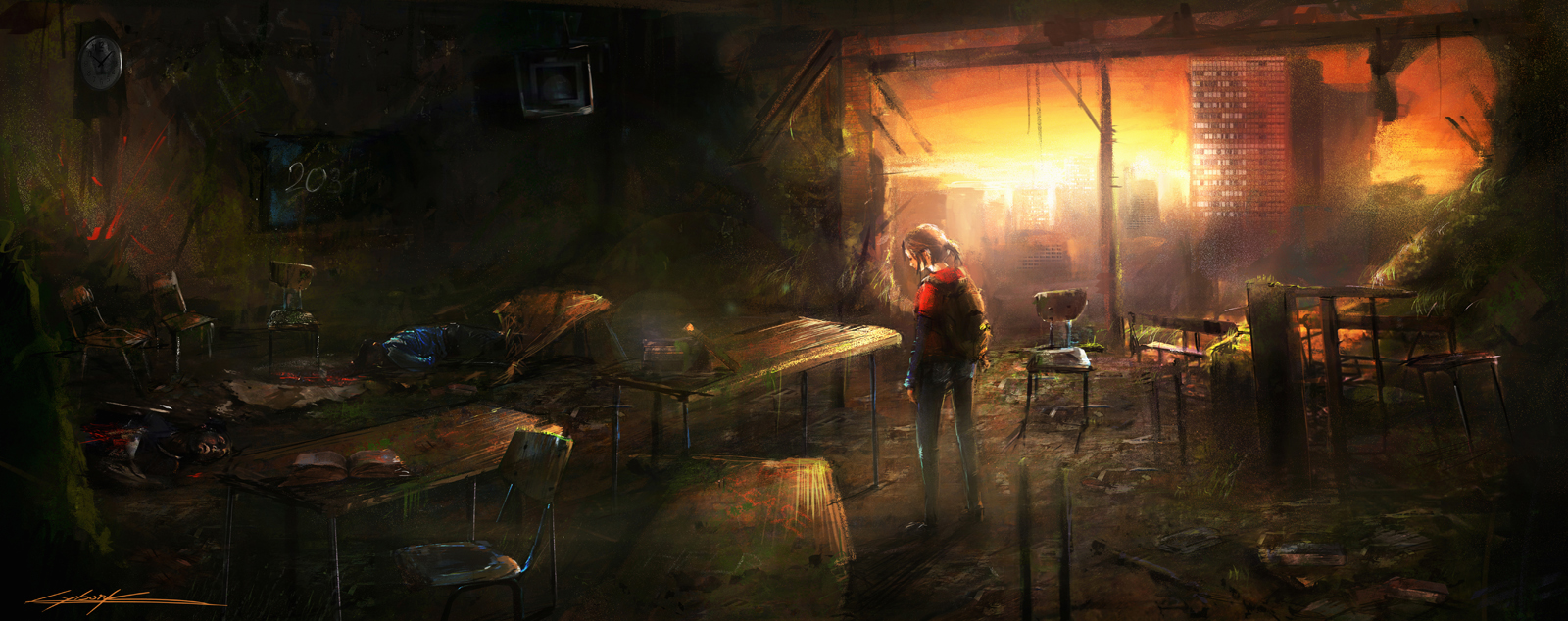 The last of us: Ellie in the school by VitoSs