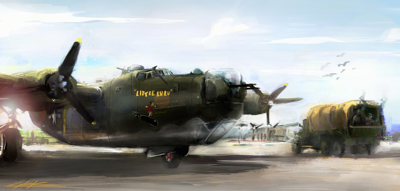 World war 2: B24 Little Lulu Their last daybreak by VitoSs