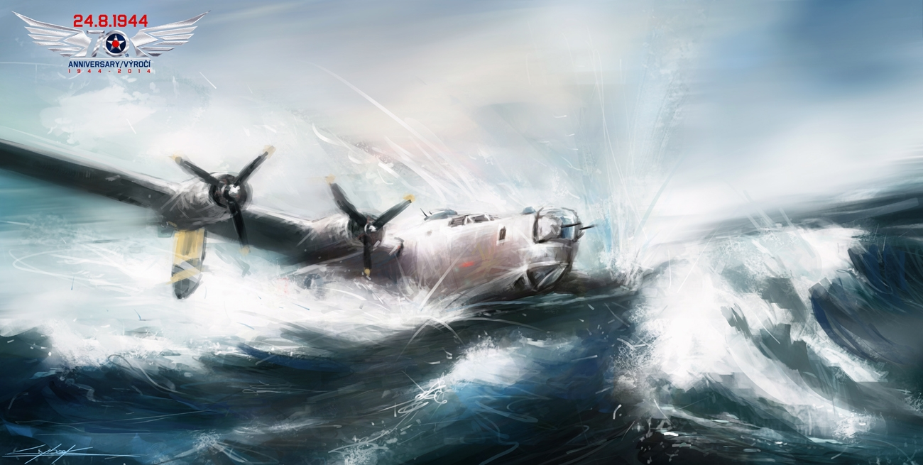 B-24 Red Q - End in the sea by VitoSs