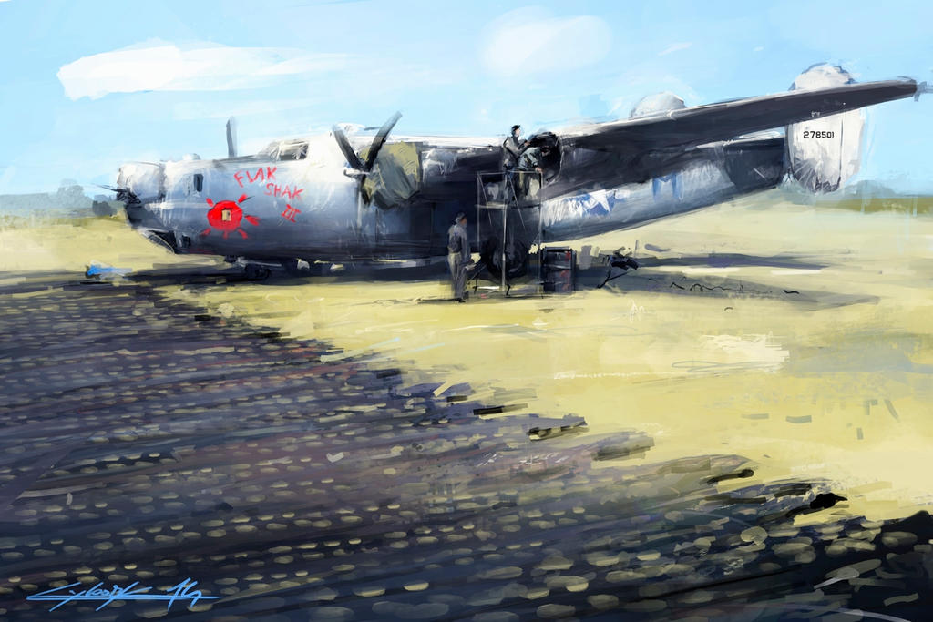 B-24 Flak Shak III in parking box by VitoSs