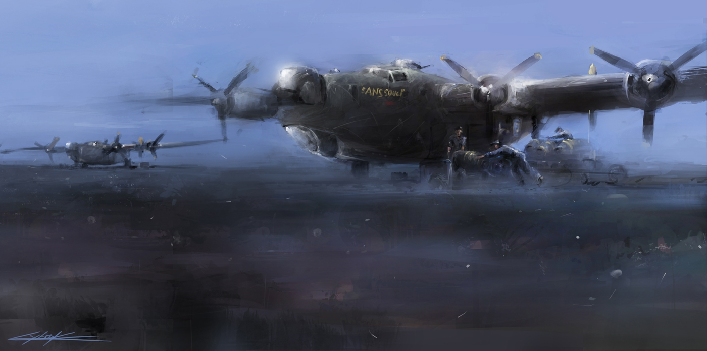 B-24 sans souci in parking box by VitoSs