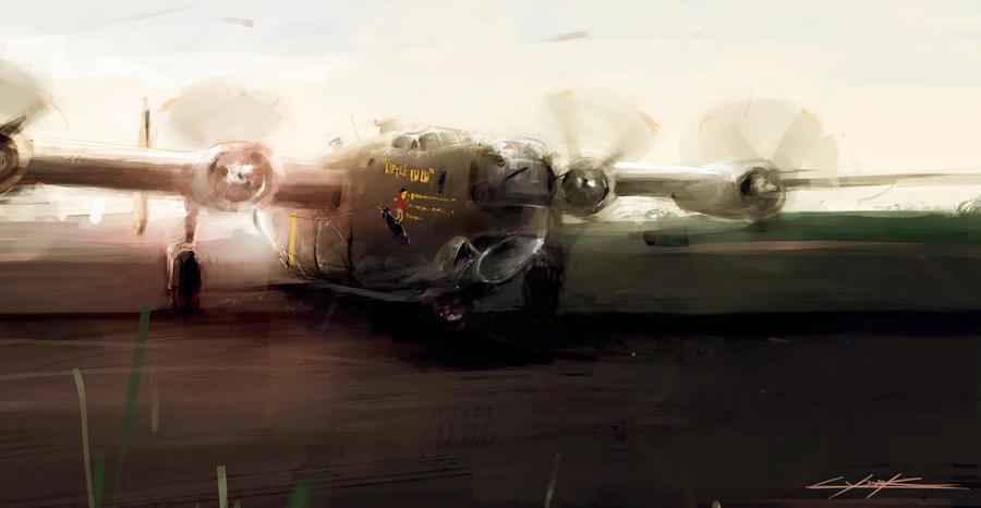 B-24 Little Lulu before start by VitoSs