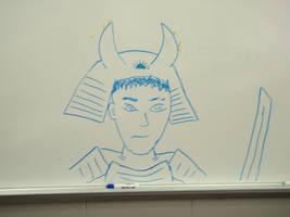 Samurai Sketch by DV-n-tart