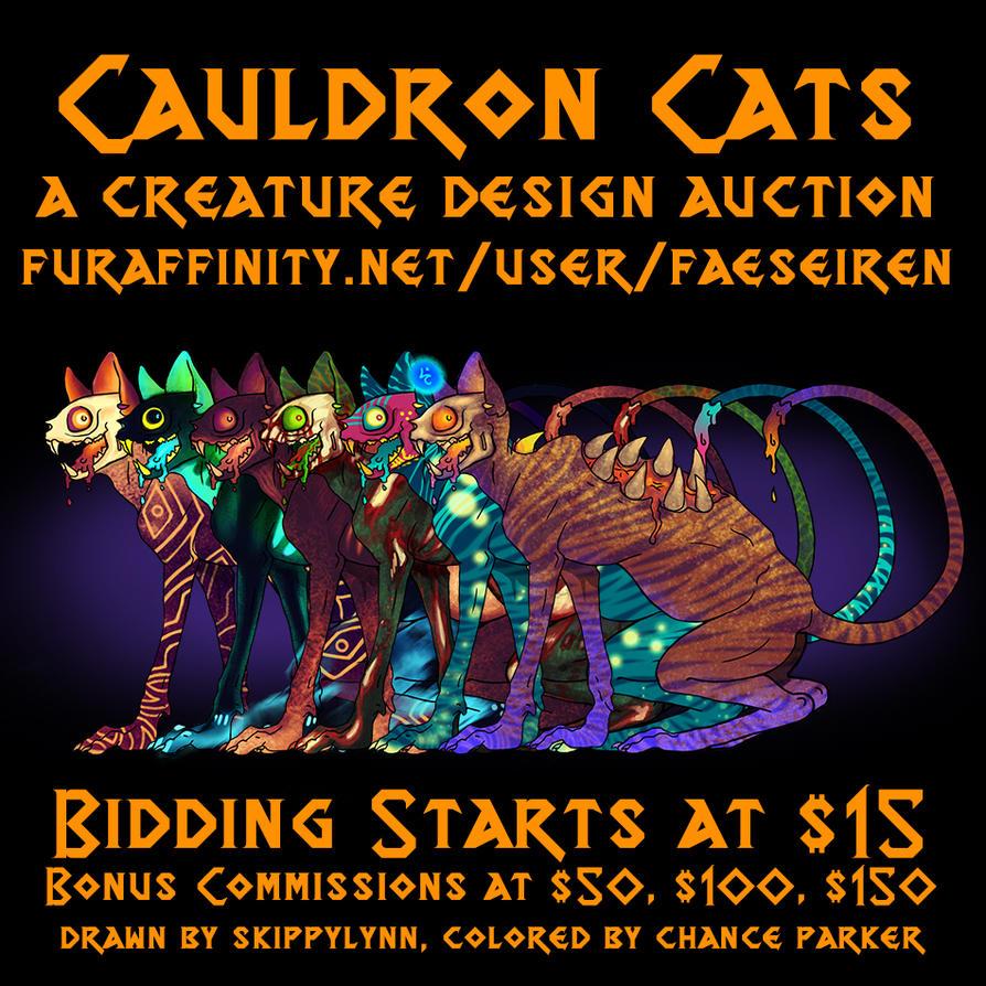 $15 AUCTION - Cauldron Cats by Wolf-Daemon