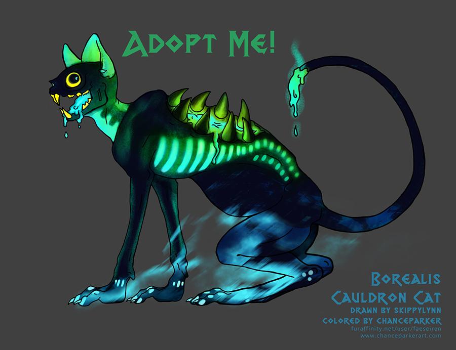 CAULDRON CAT - BOREALIS by Wolf-Daemon