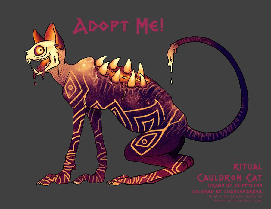 CAULDRON CAT - RITUAL by Wolf-Daemon