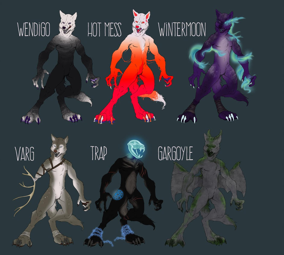 WEREWOLF ADOPTABLES AUCTION - ENDS HALLOWEEN by Wolf-Daemon