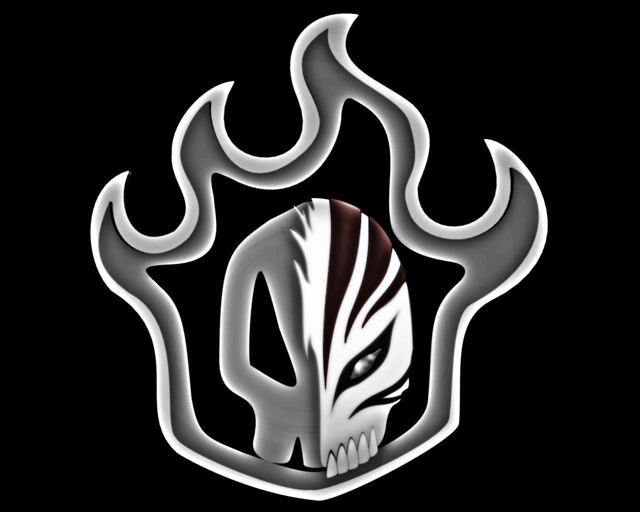 Bleach Flaming Skull Logo