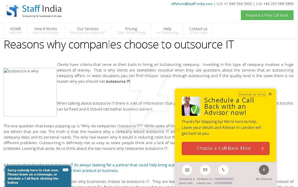 Reasons why companies choose to outsource IT by ...