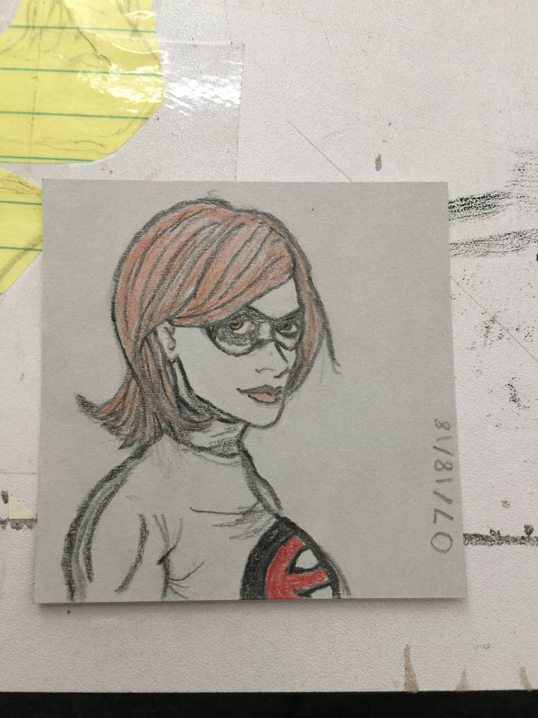 Elastigirl, just a small sketch... literally by Charlesthemore