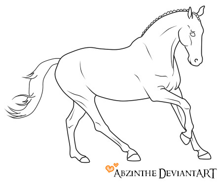 Running Horse Line Drawing