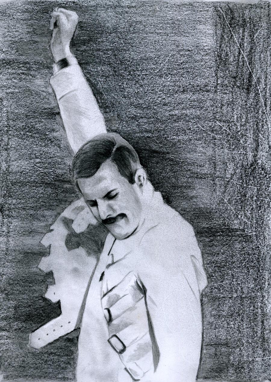 Freddie Mercury Rage Pose by Sylarius on DeviantArt