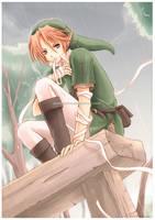 Zelda: Rain by Zaphk