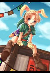 Zelda: BunnyBunny by Zaphk