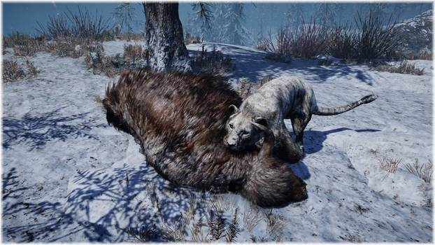 Far Cry Primal Cave Lion with Yak Kill