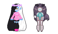 [extra] - Tenshilove [tiny pixel dolls] by hello-planet-chan